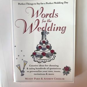 3 for $25 Book. Words for the wedding